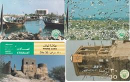 LOT 4 PHONE CARDS EMIRATI ARABI (PY2259 - Emiratos Arábes Unidos