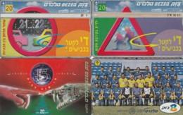 LOT 4 PHONE CARDS ISRAELE (PY2052 - Israel