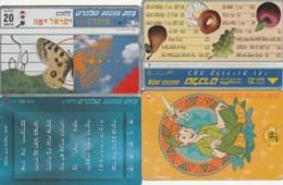 LOT 4 PHONE CARDS ISRAELE (PY2053 - Israel