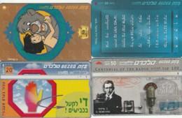 LOT 4 PHONE CARDS ISRAELE (PY2054 - Israel