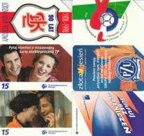 LOT 6 PHONE CARDS POLONIA (PY2316 - Polonia
