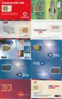 LOTTO 10 GSM CON CHIP RIATTACCATO CON NASTRO ADESIVO (PY2288 - [2] Handy-, Prepaid- Und Aufladkarten