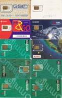 LOTTO 10 GSM CON CHIP RIATTACCATO CON NASTRO ADESIVO (PY2291 - [2] Handy-, Prepaid- Und Aufladkarten