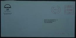 Belgium - Advertising Meter Franking Cover 2000 Man A7686 - 2000-...