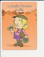 Humour Cueillette Des Champignons Mushroom Panier IM126/4A - Non Classés