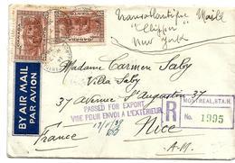 Can696/ KANADA - Einschreiben Für Export  Nach Frankreich, 1939 - Lettres & Documents