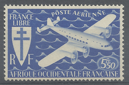 French West Africa (AOF), 5f50, London Set, 1945, MNH VF - Neufs
