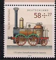 """2013 Allem. Fed. Deutschland    Mi. 3027 **MNH   175 Jahre Dampflokomotive """"Saxonia - [7] Repubblica Federale"""