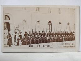 Aiguebelle. Dieu Et Patrie. Guerre 1870 - 1871, Religieux Soldats. Format CDV. 6x10.5 Cm - Anciennes (Av. 1900)