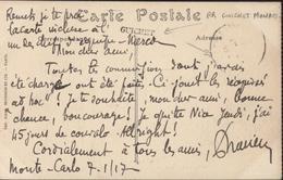 Monaco CP FM Cachet Guichet (Monaco) CAD Peu Lisible Mais Manuscrit Monté Crlo 7 1 17 CP Musée Océanographique - Briefe U. Dokumente