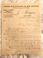 Vins Naturels En Gros - J.Mougne - Imphy 1921 - Francia