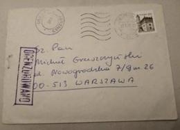 POLAND 1982 SOLIDARITY SOLIDARNOSC PERIOD MARTIAL LAW OCENZUROWANO CENSORED VIOLET CACHETS CENSOR 558 SZCZECIN WARSZAWA - 1944-.... Republik