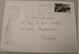 POLAND 1982 SOLIDARITY SOLIDARNOSC PERIOD MARTIAL LAW OCENZUROWANO CENSORED MAUVE CACHETS CENSOR 735 FRANCE TO BYDGOSZCZ - 1944-.... Republik