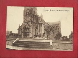 CPA - Plancoët  -  (C.-du-N.) -  Le Monument Et L'église - Plancoët