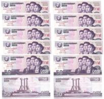 Korea North - 100 Pcs X 50 Won 2018 UNC Bundle Comm. Lemberg-Zp - Korea, Noord