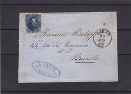 N° 15 / Lettre De Liege  Du 22 05 63 Lac - 1863-1864 Medaglioni (13/16)