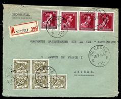 Doc. De  St CECILE - A A - 29/03/51 En Rec.  ( Col Ouvert Et Lion) - Poststempel