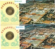Chine Entiers Postaux.Palais Imperial De Pekin Avec Medaille Commémorative.(2 Env. Avec Variétés) - 1949 - ... People's Republic