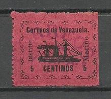 VENEZUELA 1903 Distrito Marino Michel 29 * Control Cancel Correos Yrapa - Venezuela