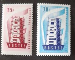 FRANCE   Europa 1956   N° Y&T  1076 Et 1077  ** - France