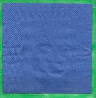 8  Servilletas 33x33cm Lisas: Azul - Serviettes Papier à Motif