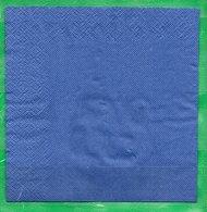 8  Servilletas 33x33cm Lisas: Azul - Papieren Servetten (met Motieven)