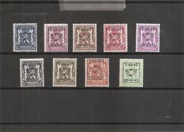 Belgique ( Préos 446/454 XXX -MNH) - Precancels