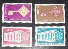 FRANCE   Europa 1968 Et 1969    N° Y&T  1556, 1557, 1598 Et 1599    ** - Unused Stamps