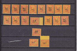 INDOCHINE TAXE 57/74 LUXE  NEUF SANS CHARNIERE - Timbres-taxe