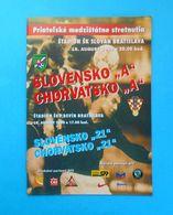SLOVAKIA V CROATIA - 2000 Intern. Football Match Programme * Soccer Fussball Programm Programma Kroatien Slovak Republic - Tickets D'entrée