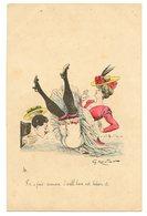 Illustrateur Georges Mouton.érotique.la Culotte Fendue.juste Pour Une Femme, Je Ne Peux Pas Croire. - Illustrateurs & Photographes