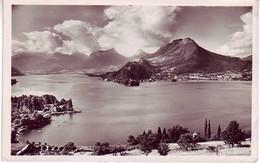 (74). Annecy. N° 1416. Talloires Massif Des Bauges Presqu'ile De Duingt 1951 & 124 Talloires 1946 & Lac Coucher Soleil - Annecy