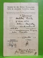 Carte De Circulation Frontalière Limitée, Voiture 253860 Arlon Bruxelles - 1939-45