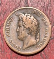 5 CENTIMES LOUIS PHILIPPE COLONIES FRANÇAISES 1839 A - France