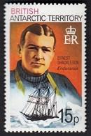 "British Antarctic 1973-1981 / Antarctic Researchers With Their Ships, Ernest Shackleton, ""Endurance"" / MNH / Mi 56 Ax - Schiffe"
