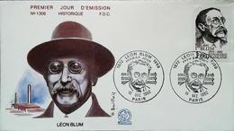 FRANCE - FDC - 1982 - LEON BLUM (Oblitération PARIS)  Enveloppe Premier Jour - Theologians
