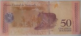 Venezuela - 50 Bolivares Soberanos - 15/1/2018 - Serie D - UNC - Animal Note - Venezuela
