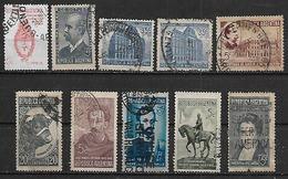 1941-2 Argentina Escudo-toro-banco Nacion-correo Y Telecomunicaciones(telegrafo)-personajes 10v. - Argentina