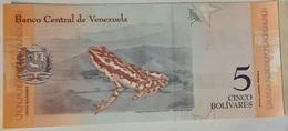 Venezuela - 5 Bolivares Soberanos - 15/1/2018 - Serie C - UNC - With Animal / Frog / Grenouille - Venezuela