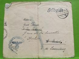 Feldpost 1943 , St. Hubert Envoyé à Bertrix Prov. Luxembourg - Lettres