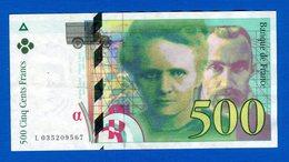 500 Fr   1995 - 1992-2000 Laatste Reeks