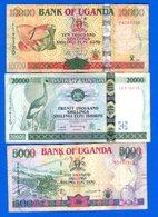 Ouganda  3  Billets - Oeganda