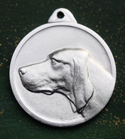 Jeton - Belle Médaille D'identification De Chien - Provient De L'atelier Du Graveur Georges Contaux à Vigneux-sur-Seine - Professionals / Firms