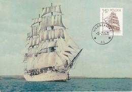 Carte Maximum  Ship Bateau Pologne Voilier - Maximum Cards