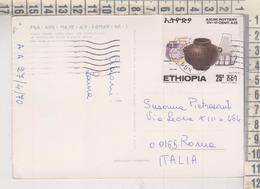 STORIA POSTALE FRANCOBOLLO COMMEMORATIVO ETIOPIA ETHIOPIA ADDIS ABEBA TOWN  NICE STAMP - Ethiopië