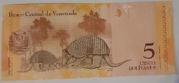 Venezuela - 5 Bolivares Fuertes - 19/8/2014 - Serie T - UNC - With Animals - Venezuela