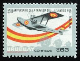 "1976 URUGUAY MNH Hydroavion ""Plus Ultra"" Avion Aircraft Carabella Caravel Carabelle Ship- Atlantic Ocean Crossing Yv 936 - Uruguay"