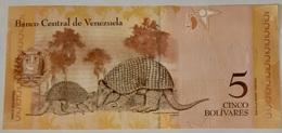 Venezuela - 5 Bolivares Fuertes - 24/5/2007 - Serie F - UNC - With Animal - Venezuela