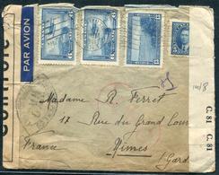 CANADA - N° 194 + 198 + PA 6 (2) / LETTRE AVION DE TORONTO LE 7/10/1941 POUR NIMES AVEC CENSURE - B - Lettres & Documents