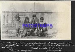 133906 PARAGUAY RIO ALTO COSTUMES NATIVE LA TOLDERIA YEAR 1923 PHOTO NO POSTAL POSTCARD - Paraguay